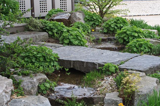 chinesischer vorgarten – performal, Garten seite